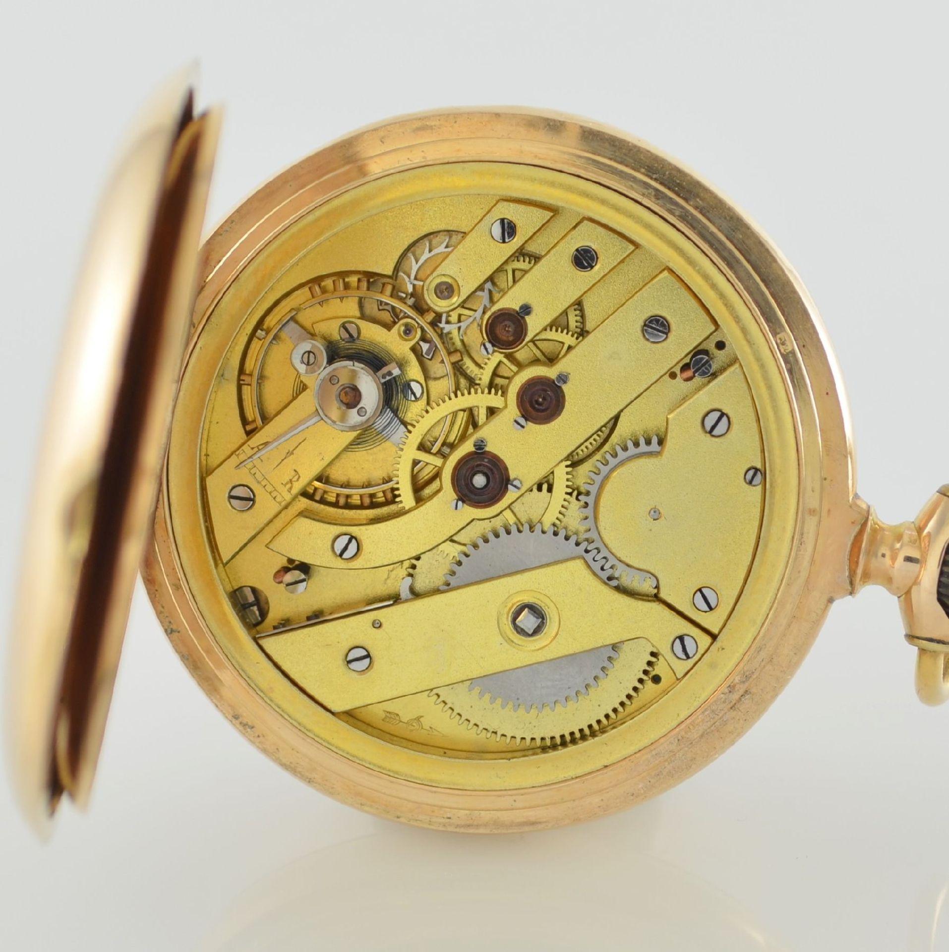 Herrensavonette in RG 585/000, Schweiz um 1900, guill. 3-Deckel-Goldgeh. dell. m. à- goutte- - Bild 7 aus 7