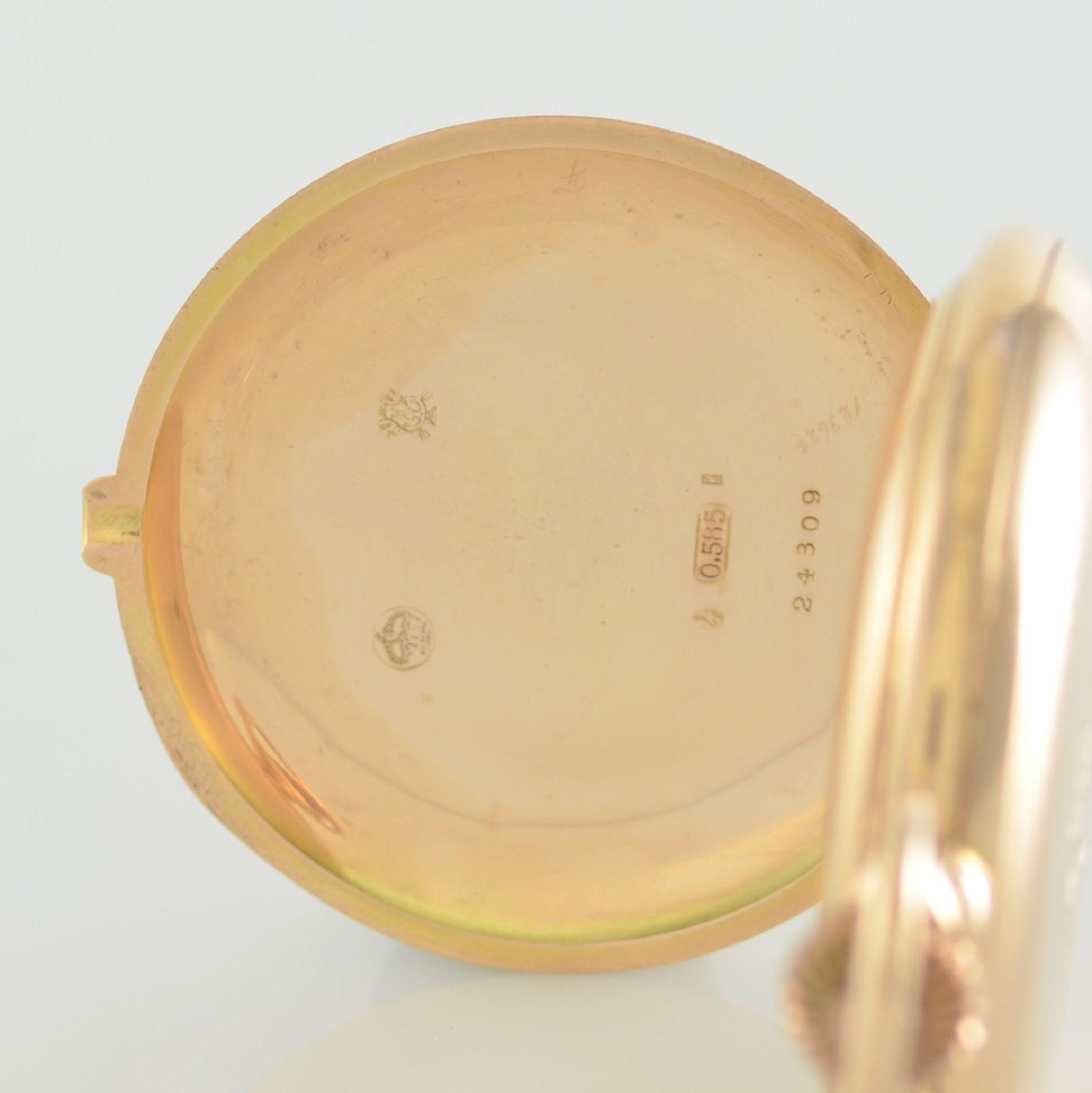 Herrensavonette in RG 585/000, Schweiz um 1900, guill. 3-Deckel Goldgeh. berieben/dell., à-goutte- - Bild 5 aus 7