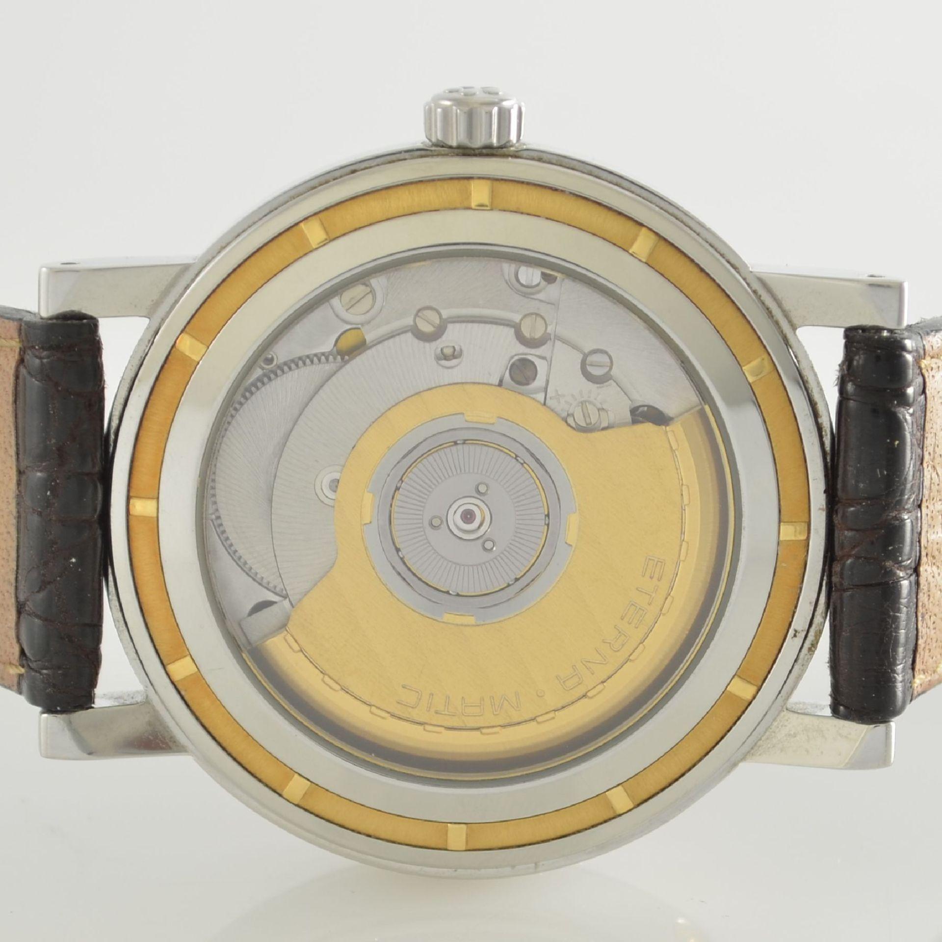 ETERNA-MATIC Herrenarmbanduhr Modell GMT, Automatik, Schweiz um 2000, Edelstahl z. T. verg., - Bild 7 aus 7