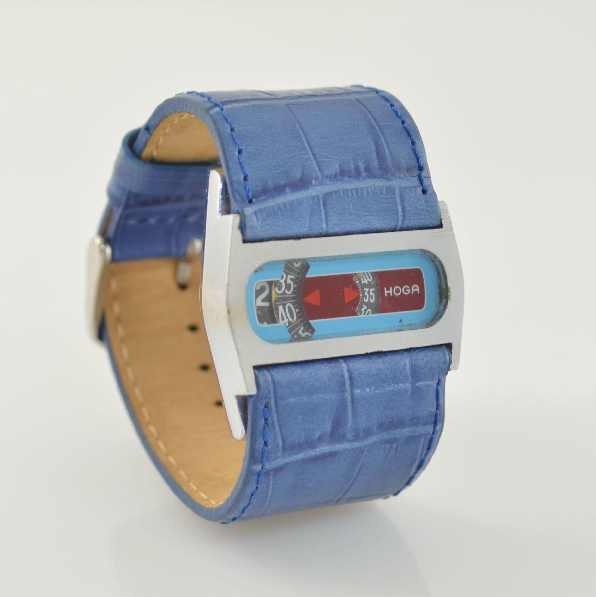HOGA/Direct Time Armbanduhr mit digitaler Zeitanzeige Kal. AS 1902, Schweiz um 1970, Automatik, - Bild 4 aus 6