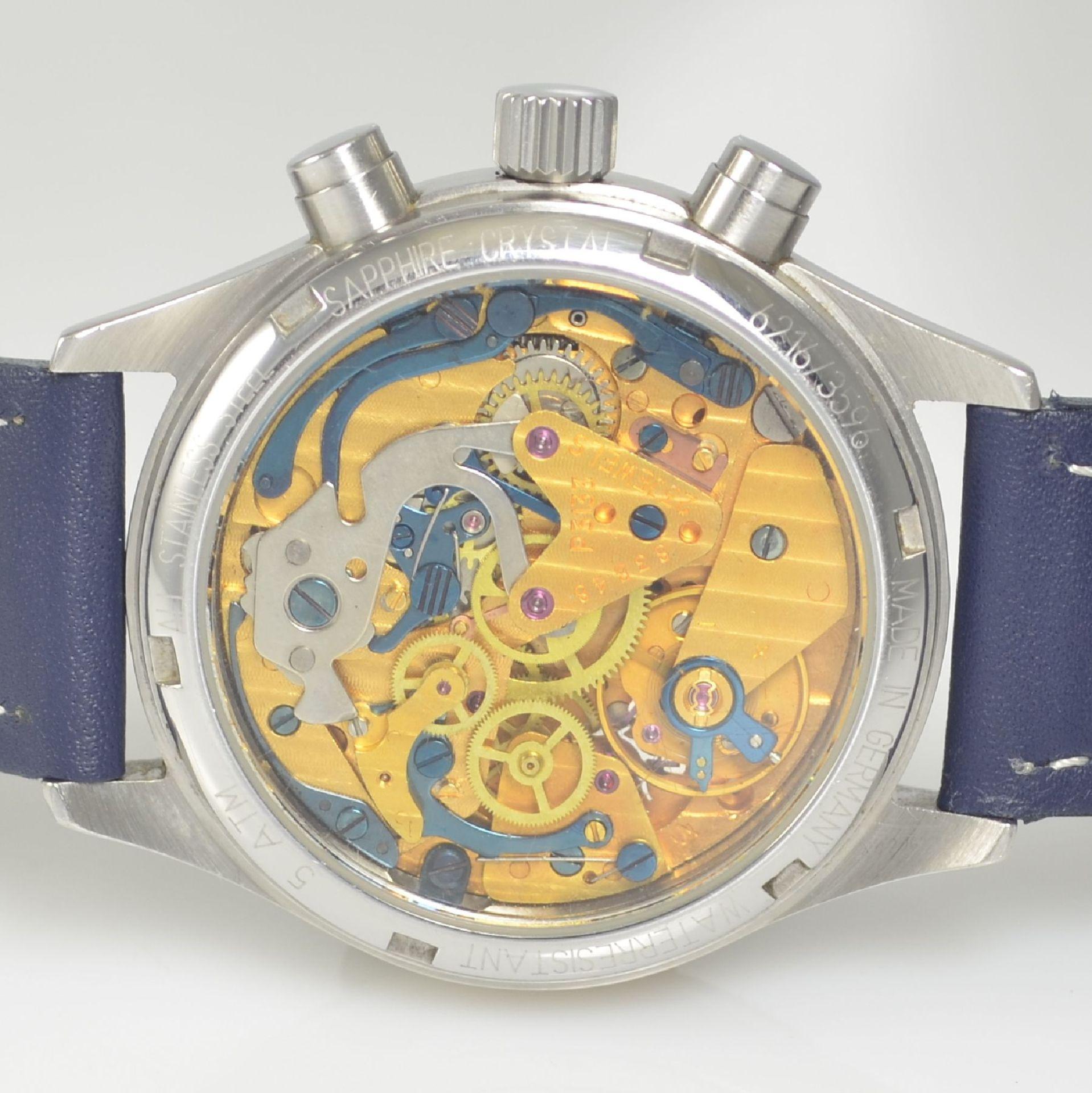 JUNKERS Herrenarmbanduhr mit Chronograph, Deutschland um 2008, Handaufzug, beids. vergl. - Bild 6 aus 7