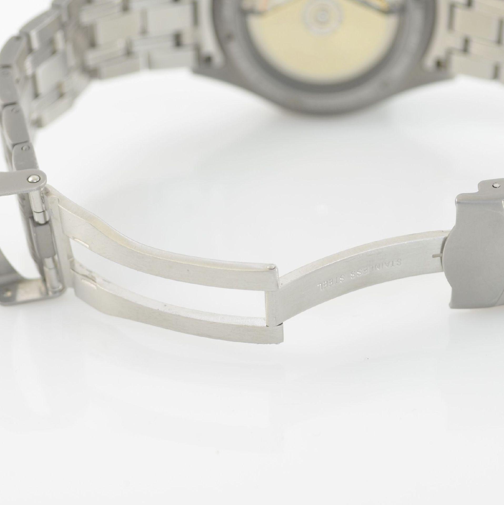 BWC Armbandchronograph, Automatik, Schweiz um 2010, matt. Edelstahlgeh. inkl. orig. Gliederband m. - Bild 7 aus 7