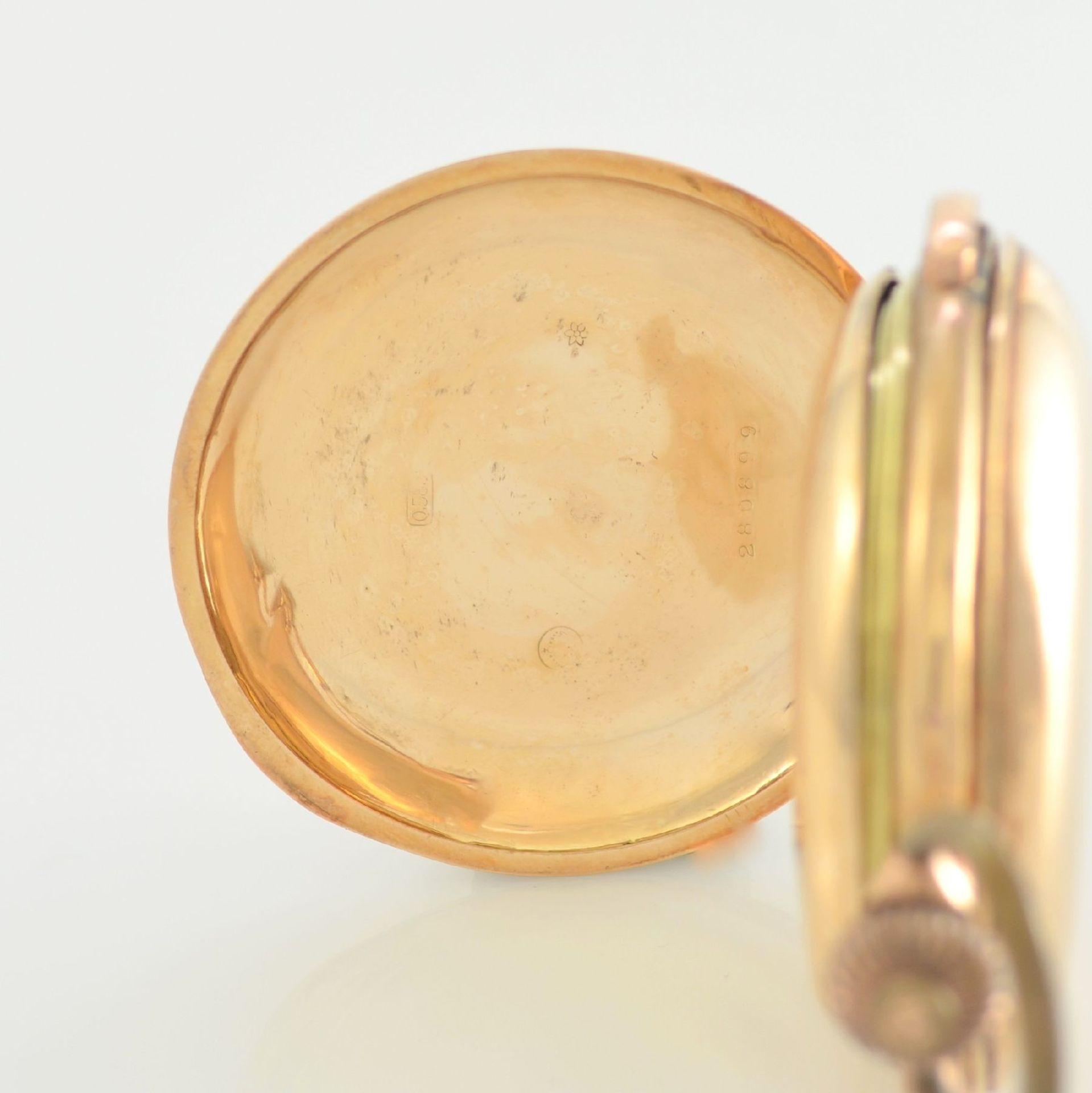 Savonette Herrentaschenuhr in RoseG 585/000 mit 1/4 Stunden Repetition und Chronograph, Schweiz um - Bild 5 aus 9