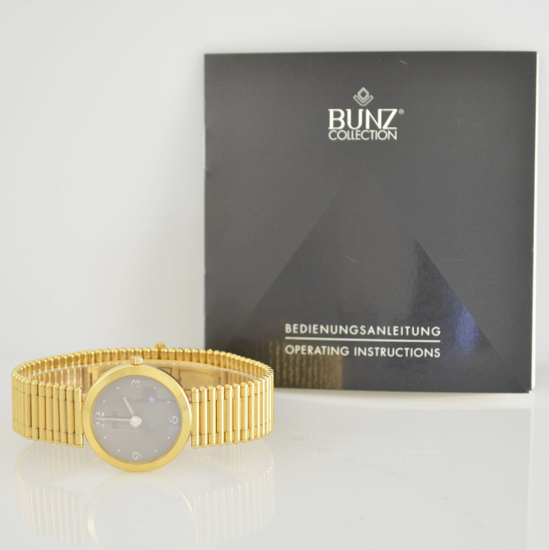 """BUNZ Damenarmbanduhr """"Diamondwatch"""" in GG 750/000, 5-fach verschr. Geh. mit integr. GG 750/000 - Bild 9 aus 9"""