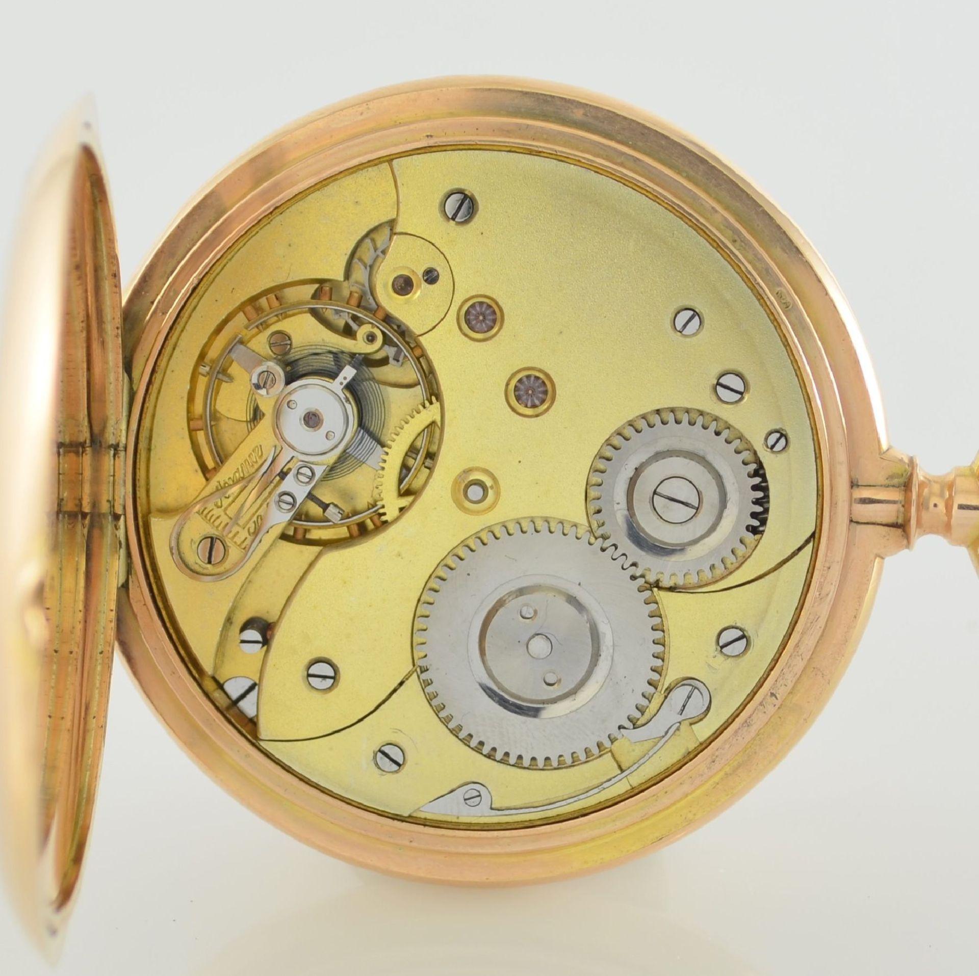 Herrensavonette in RG 585/000, Schweiz um 1900, guill. 3-Deckel Goldgeh. berieben/dell., à-goutte- - Bild 7 aus 7