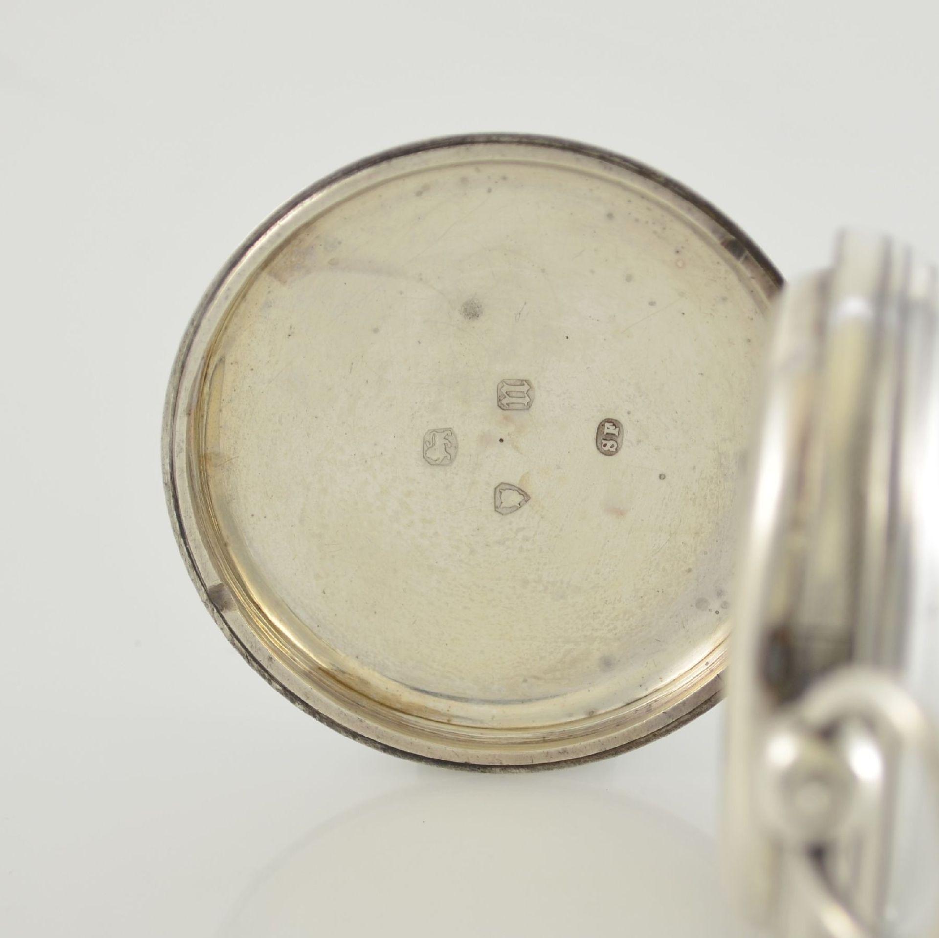 STORY & SEDMAN englische Taschenuhr in Silber, um 1870, 3-teil. Gehäuse innen m. Widmung, - Bild 4 aus 8