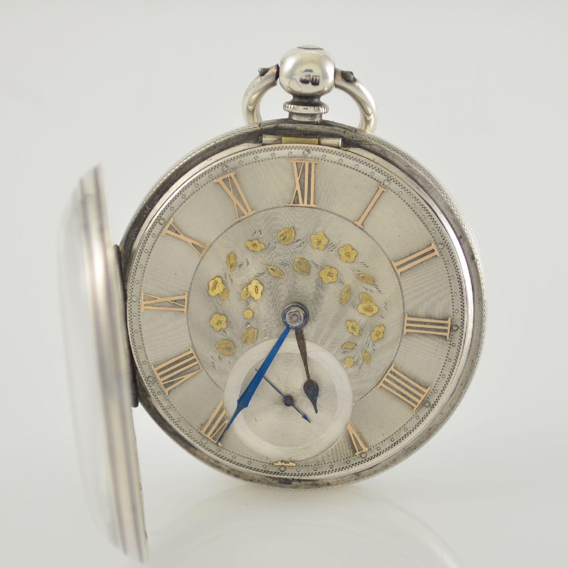 STORY & SEDMAN englische Taschenuhr in Silber, um 1870, 3-teil. Gehäuse innen m. Widmung, - Bild 3 aus 8