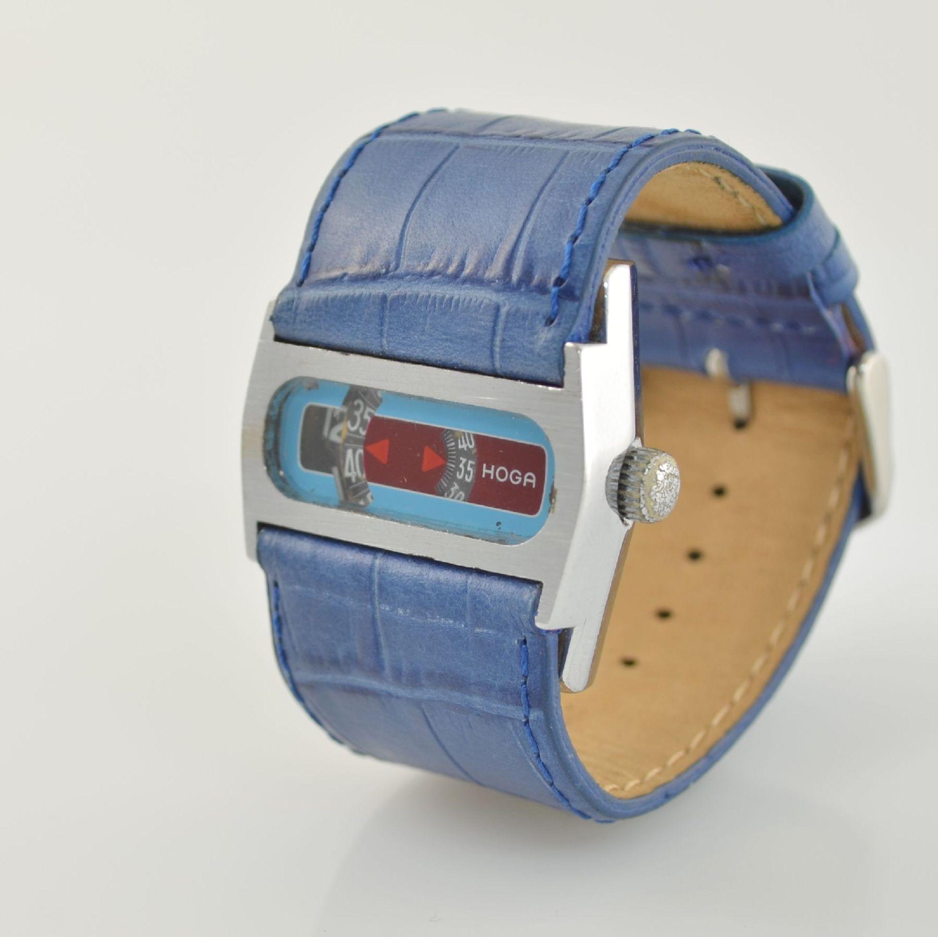 HOGA/Direct Time Armbanduhr mit digitaler Zeitanzeige Kal. AS 1902, Schweiz um 1970, Automatik, - Bild 3 aus 6
