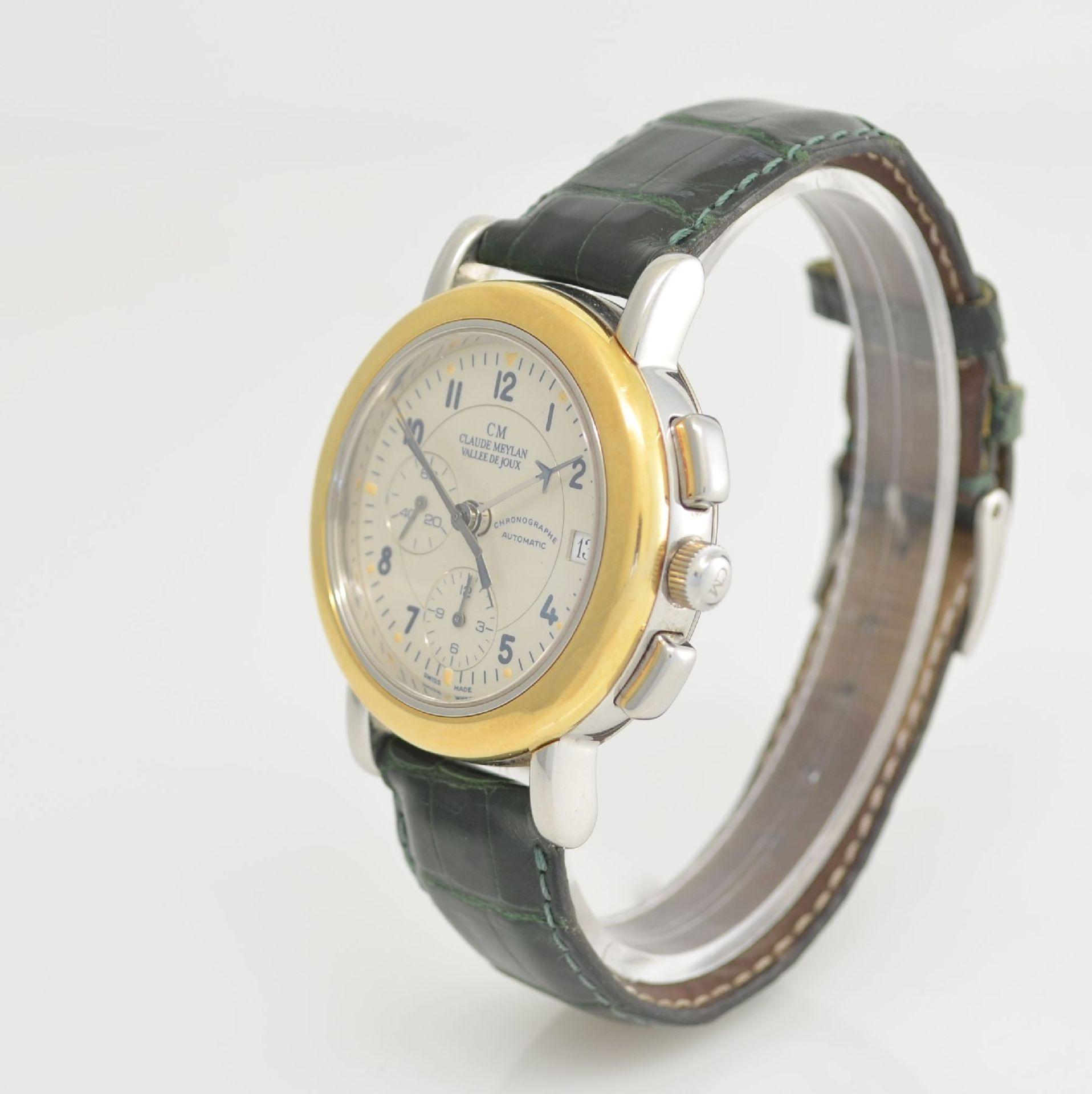 CLAUDE MEYLAN Herrenarmbanduhr mit Chronograph, Schweiz um 1995, Edelstahl/Gold kombiniert, beids. - Bild 3 aus 6