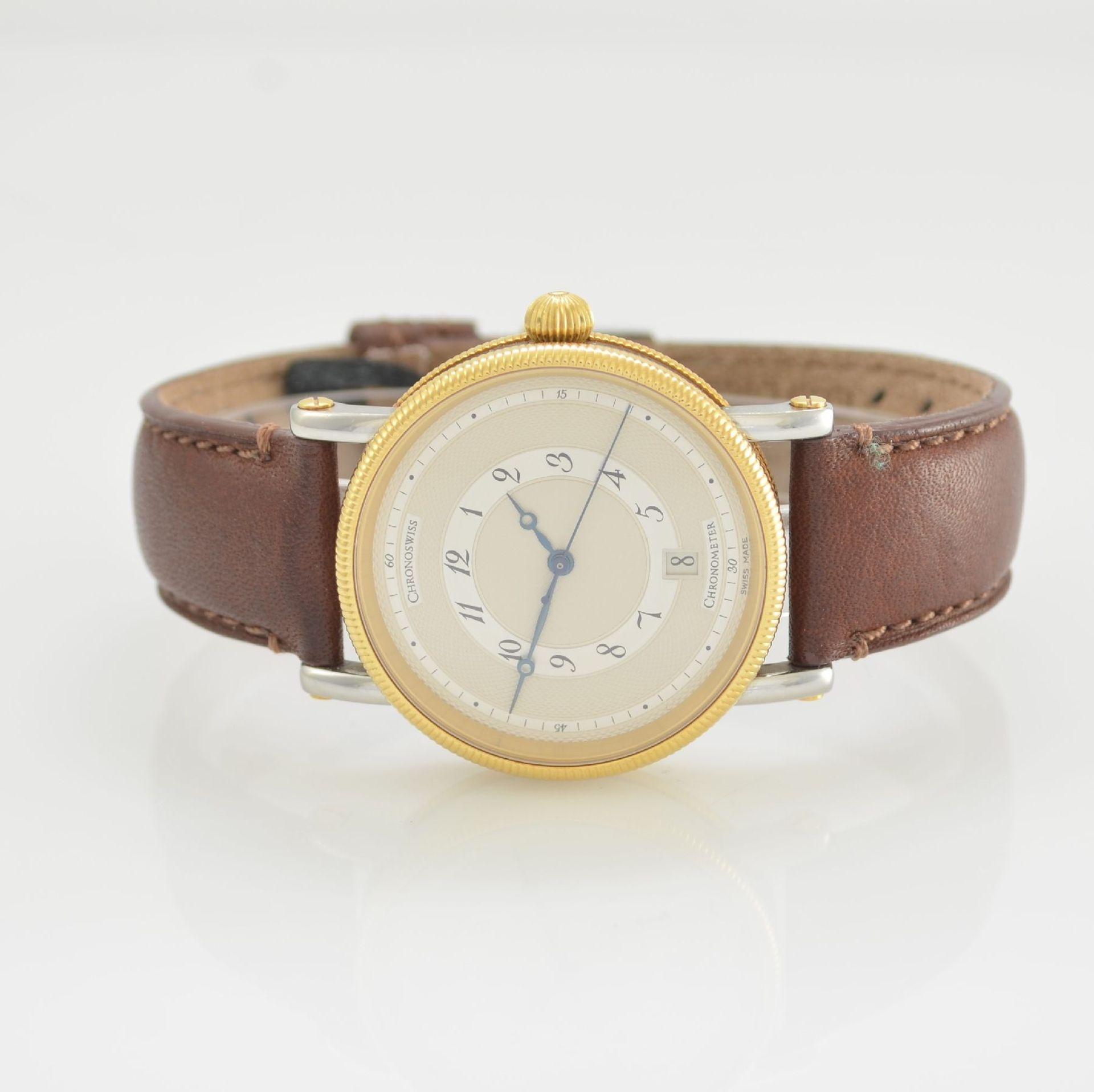 CHRONOSWISS Chronometer Herrenarmbanduhr, Automatik, Ref. CH 2822, Edelstahl/Gold kombiniert inkl.