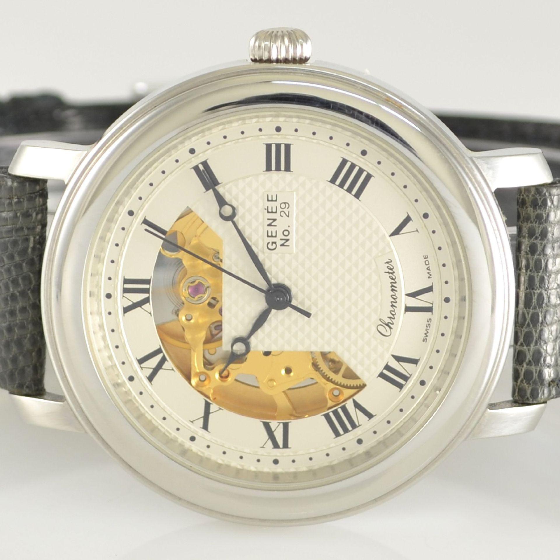 GENÉE No. 29 Chronometer-Herrenarmbanduhr in Stahl, Schweiz lt. beiliegendem Chronometerzertifikat - Bild 2 aus 8