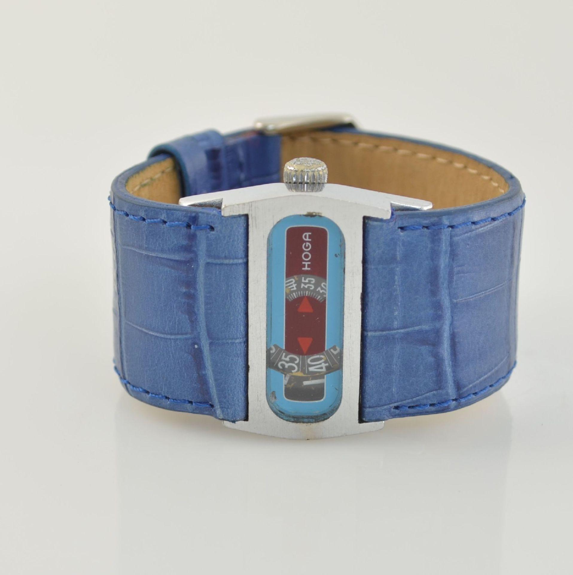 HOGA/Direct Time Armbanduhr mit digitaler Zeitanzeige Kal. AS 1902, Schweiz um 1970, Automatik,