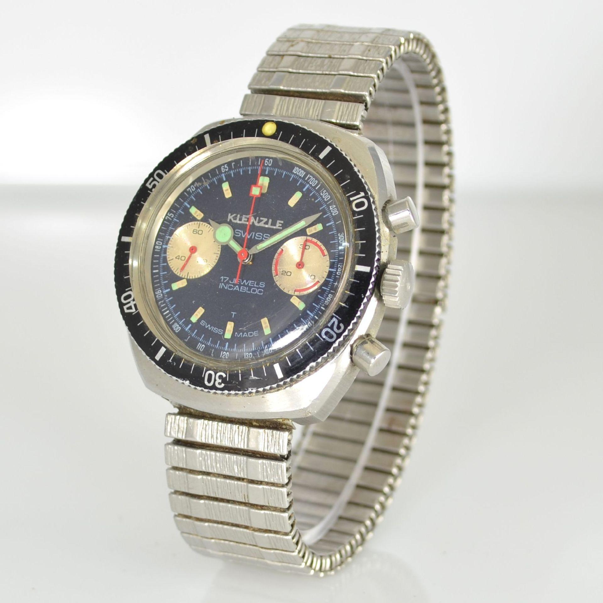 KIENZLE Armbandchronograph, Handaufzug, Schweiz/Deutschland um 1968, Ref. 1006-10, Edelstahlgeh. - Bild 3 aus 5