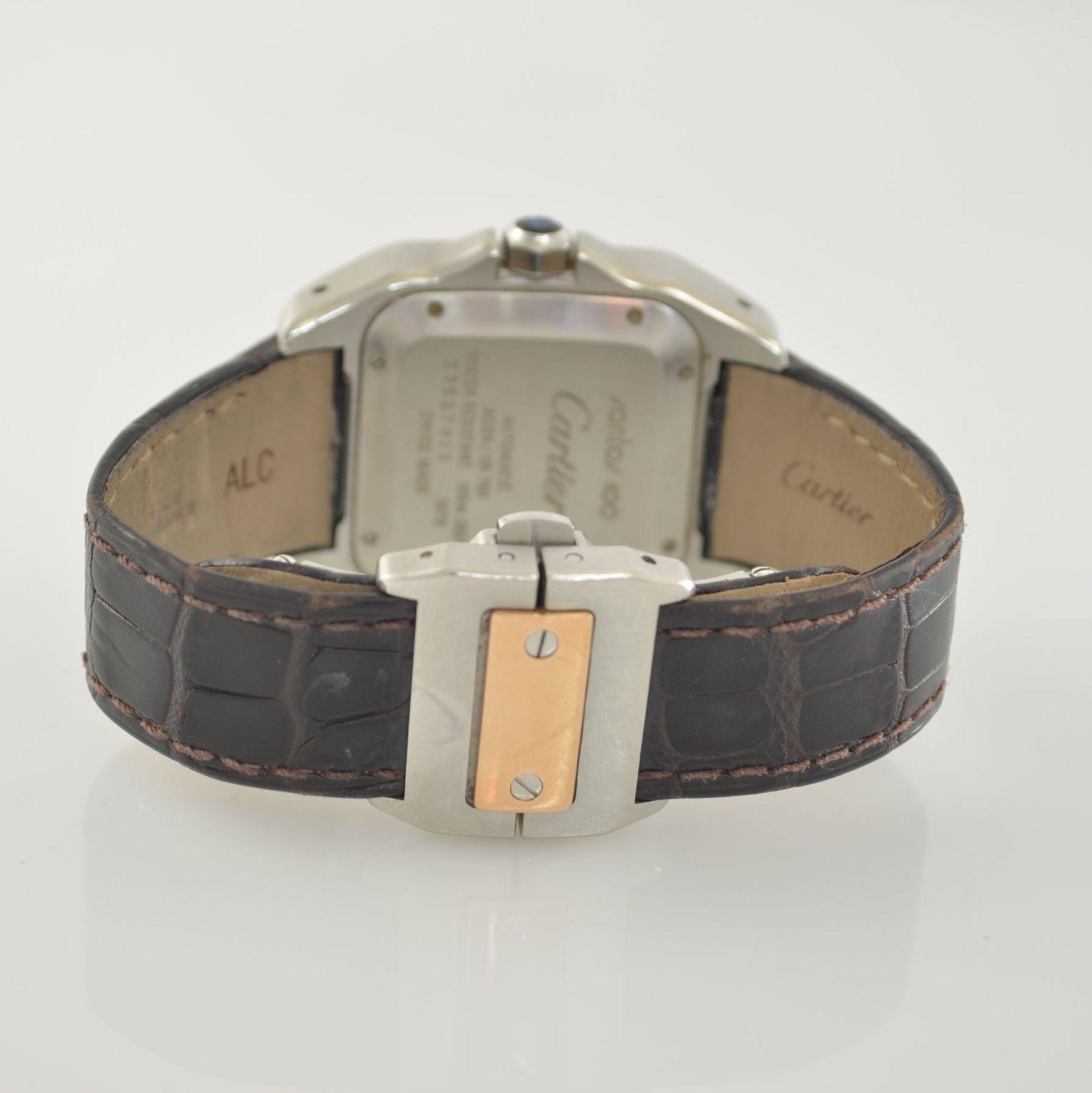 CARTIER Santos 100 Armbanduhr in Edelstahl & RoseG 750/000, Schweiz um 2006, Automatik, Boden 8-fach - Bild 6 aus 7