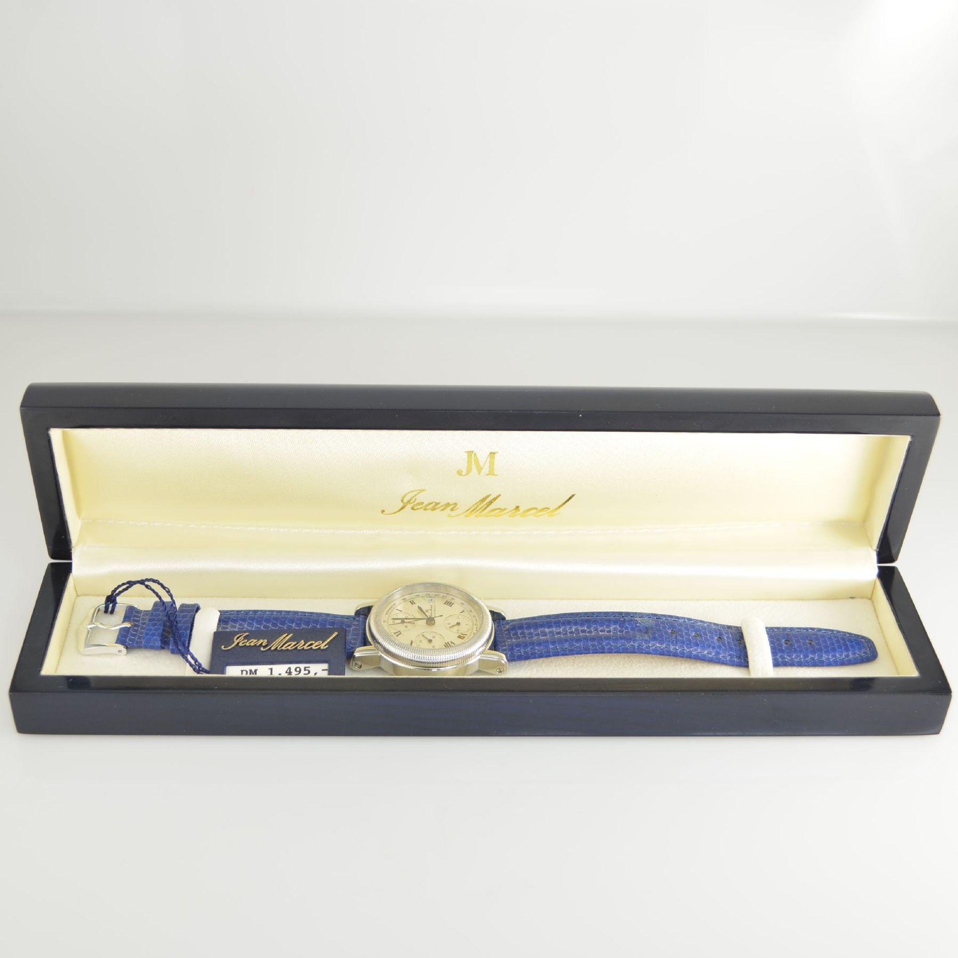 JEAN MARCEL Herrenarmbanduhr mit Chronograph, Schweiz um 2000, Automatik, Ref. 160.134, beids. - Bild 7 aus 7