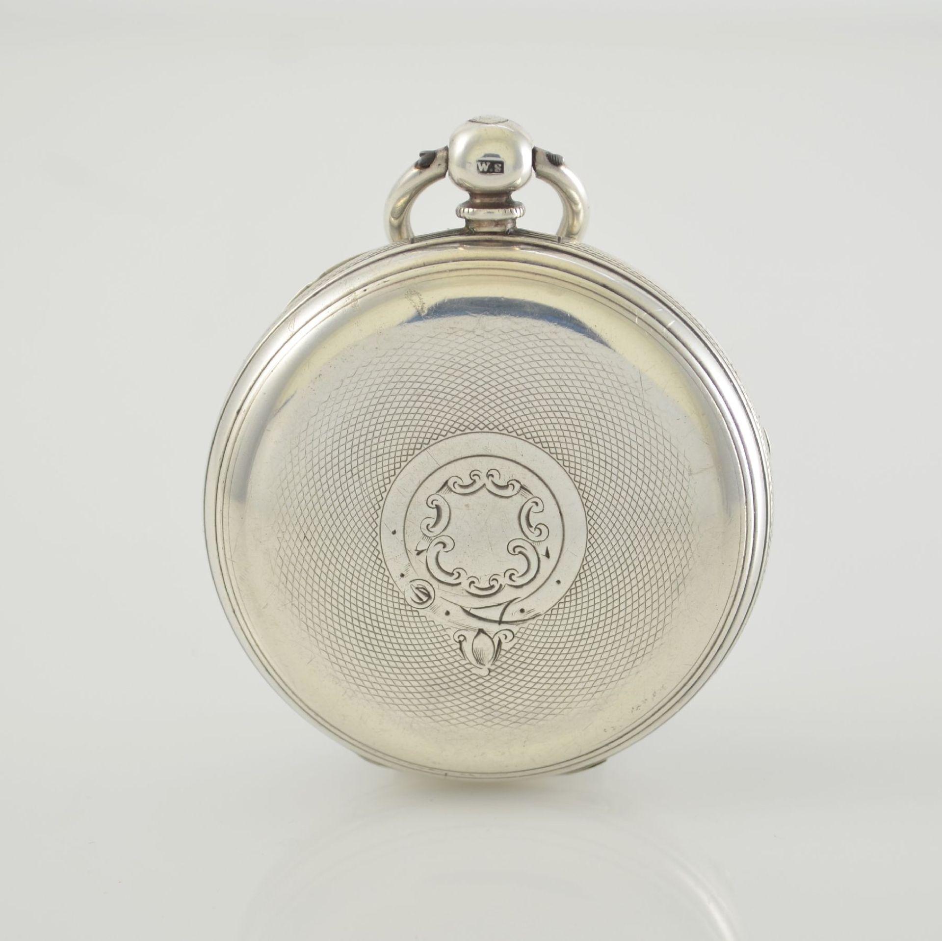 STORY & SEDMAN englische Taschenuhr in Silber, um 1870, 3-teil. Gehäuse innen m. Widmung, - Bild 6 aus 8