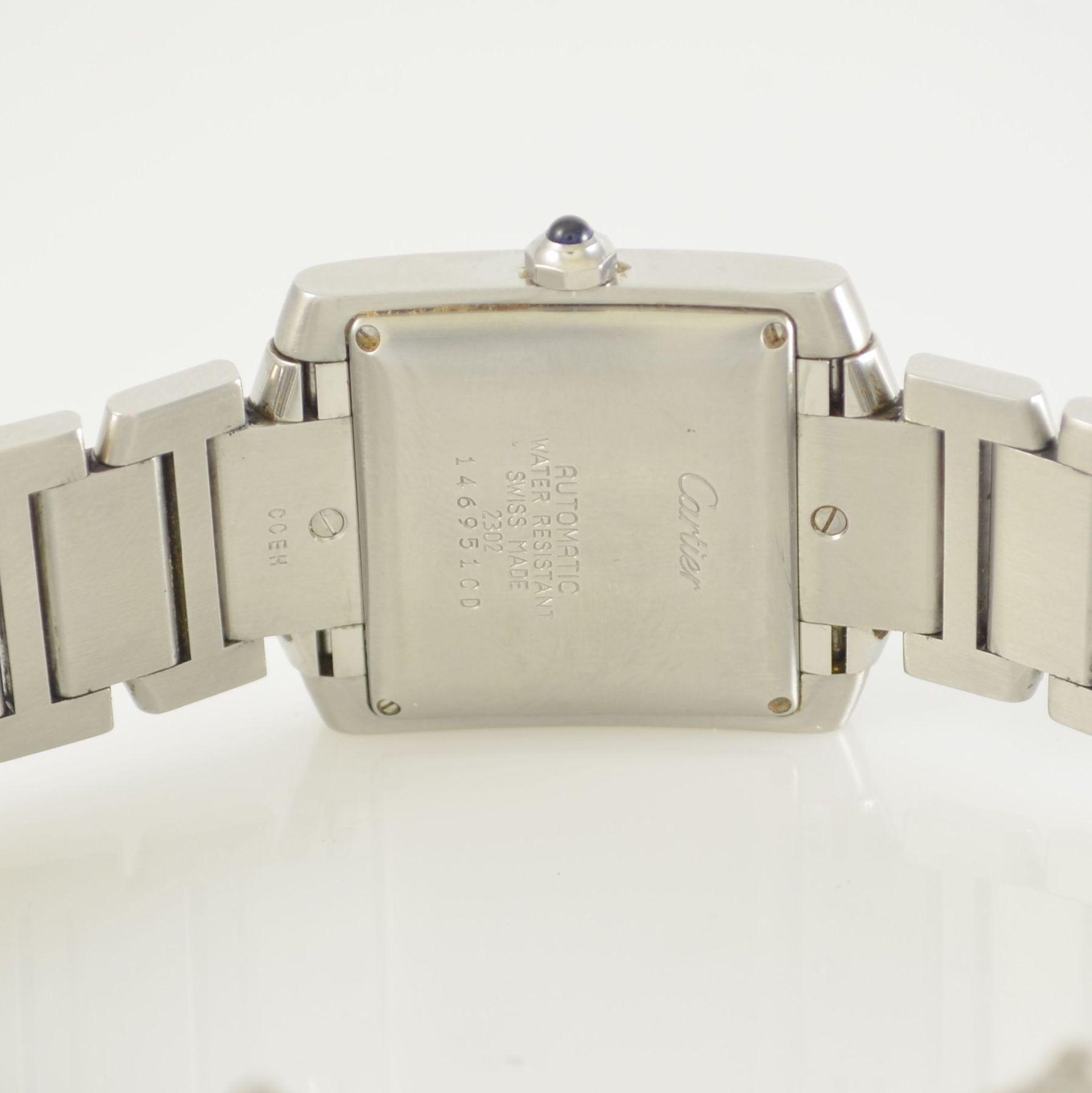 CARTIER Armbanduhr Tank Francaise, Automatik, Ref. 2302, Edelstahlgeh. inkl. Gliederband m. dopp. - Bild 7 aus 8