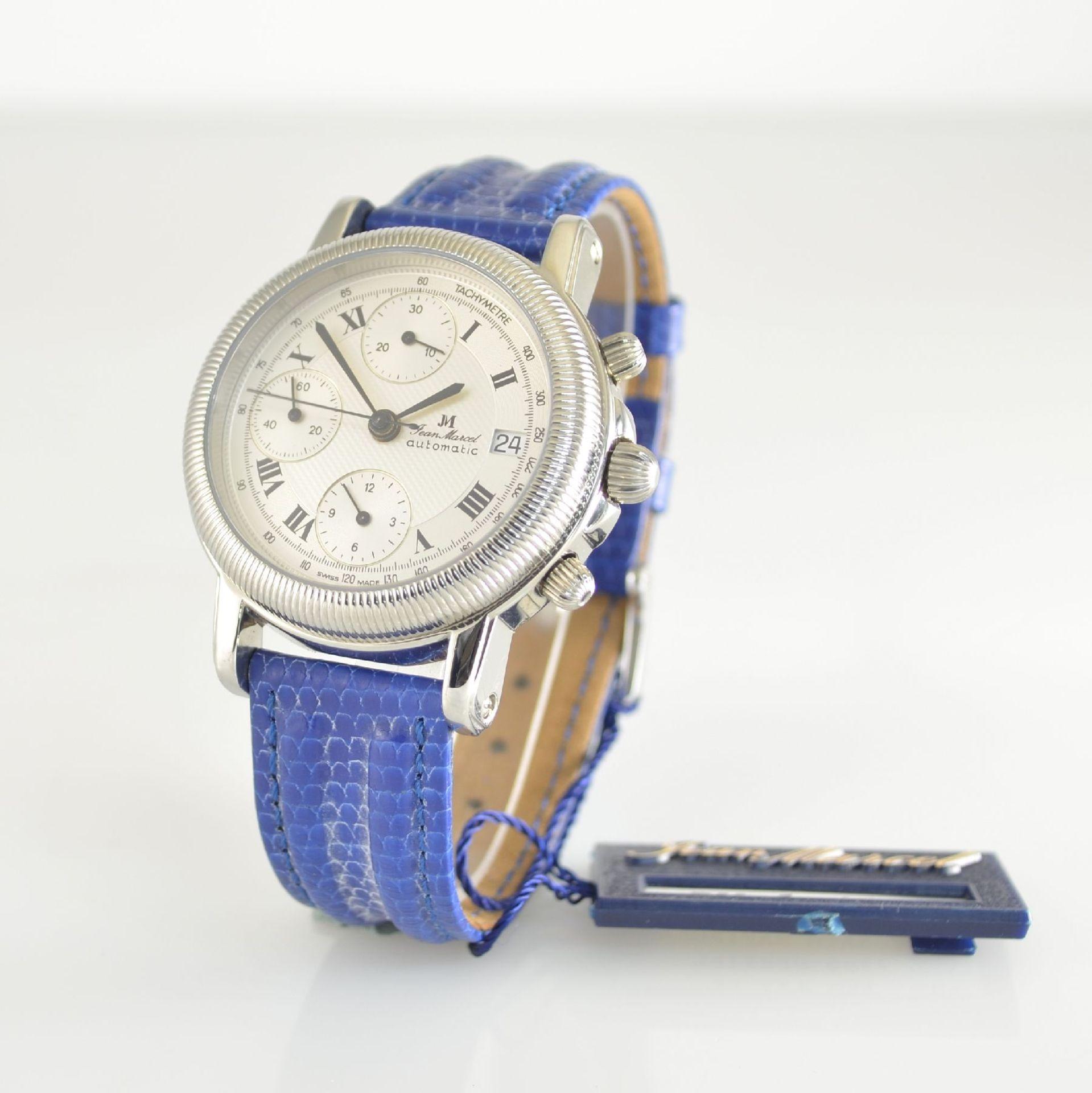 JEAN MARCEL Herrenarmbanduhr mit Chronograph, Schweiz um 2000, Automatik, Ref. 160.134, beids. - Bild 3 aus 7
