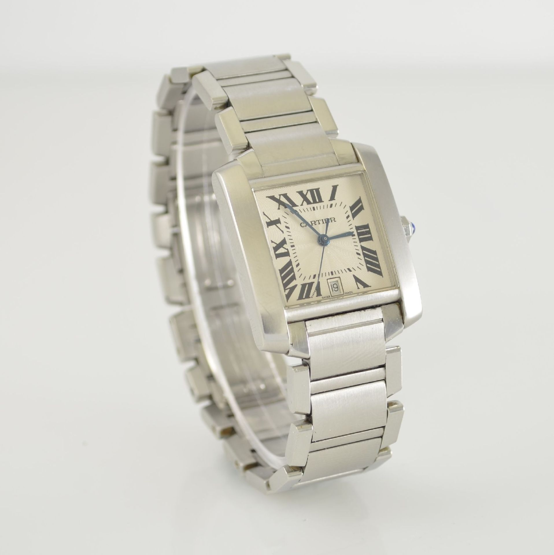 CARTIER Armbanduhr Tank Francaise, Automatik, Ref. 2302, Edelstahlgeh. inkl. Gliederband m. dopp. - Bild 4 aus 8