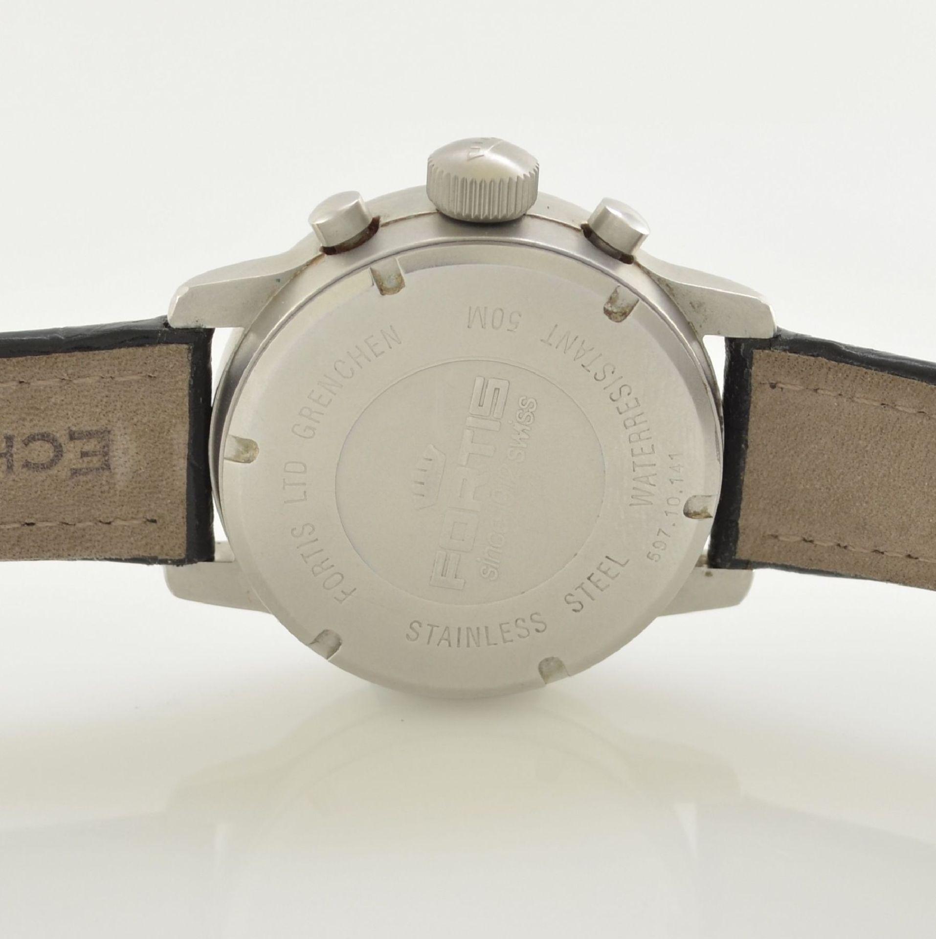FORTIS Fliegerchronograph, Automatik, Ref. 597.10.11, matt. Edelstahlgeh. inkl. Lederband m. orig. - Bild 6 aus 7