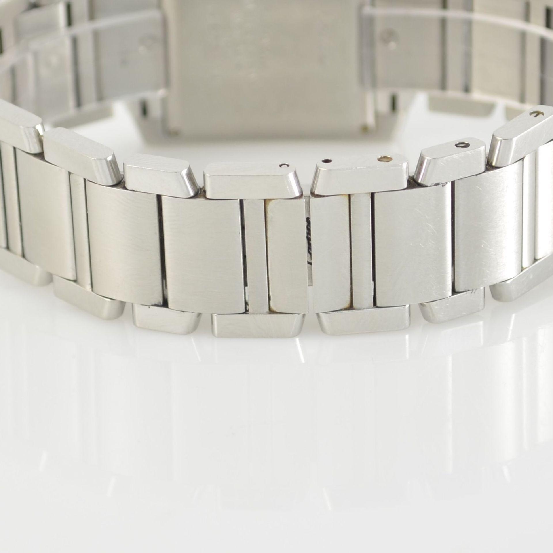 CARTIER Armbanduhr Tank Francaise, Automatik, Ref. 2302, Edelstahlgeh. inkl. Gliederband m. dopp. - Bild 5 aus 8