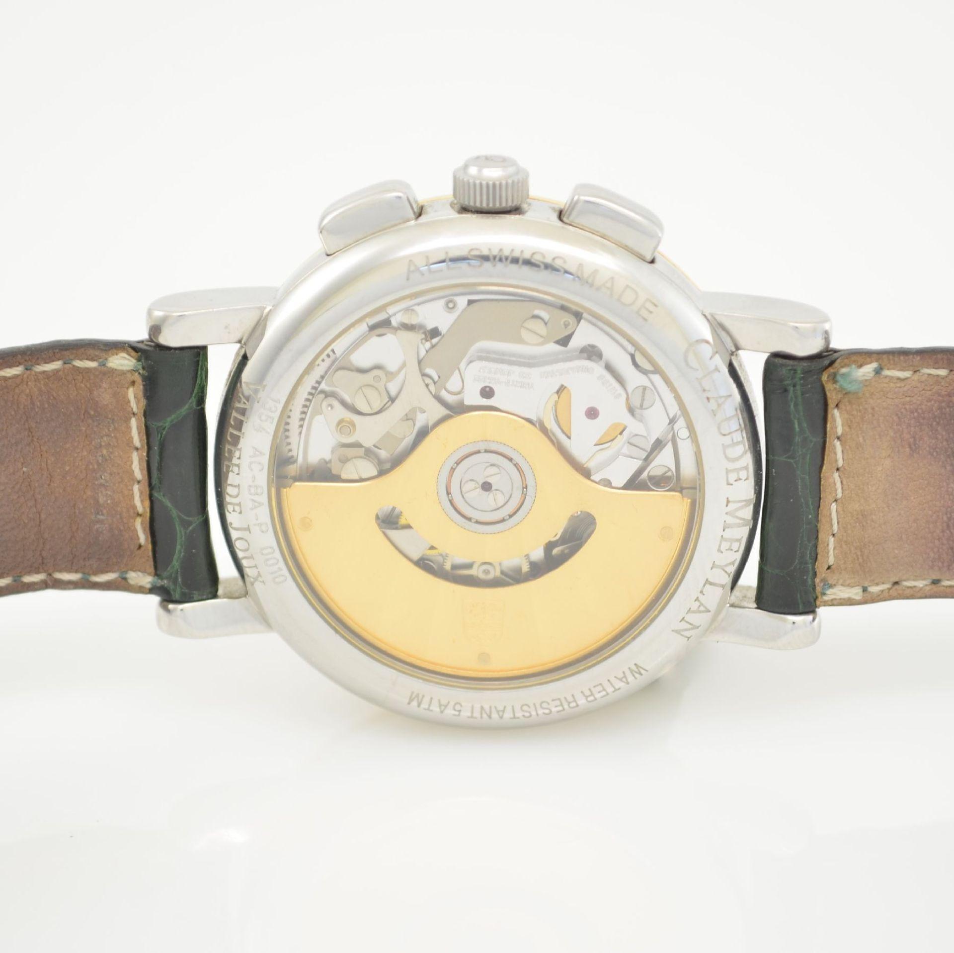 CLAUDE MEYLAN Herrenarmbanduhr mit Chronograph, Schweiz um 1995, Edelstahl/Gold kombiniert, beids. - Bild 6 aus 6