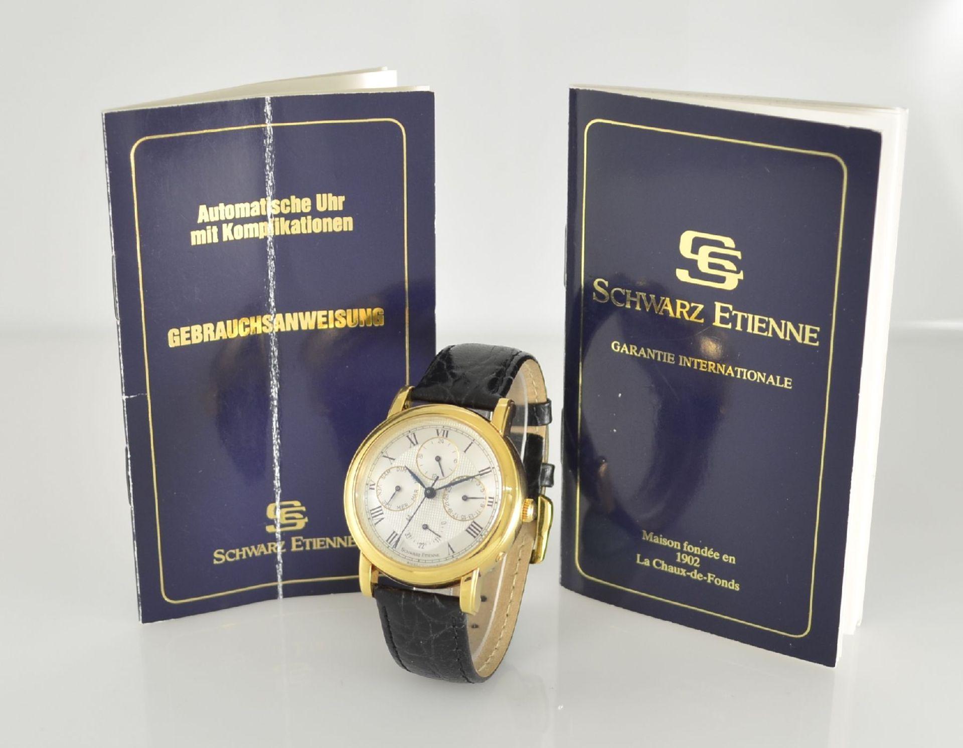 SCHWARZ ETIENNE Herrenarmbanduhr Komplikation in GG 750/000, Schweiz um 1997, Automatik, Ref. - Bild 10 aus 10