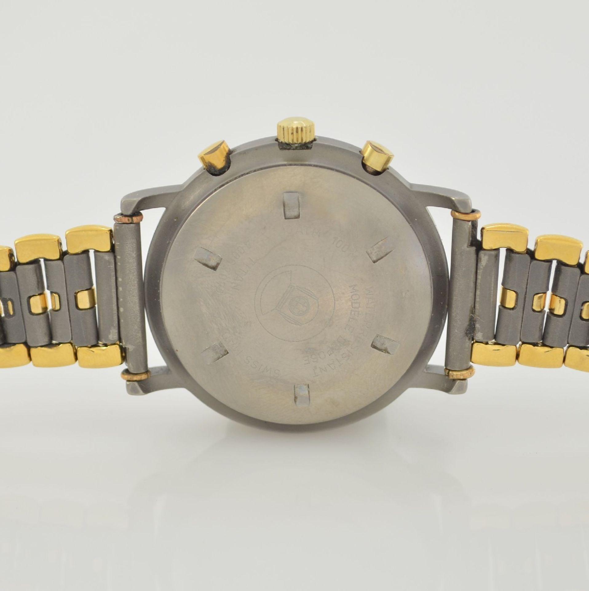 ZENTRA Herrenarmbanduhr Armbandchronograph, Automatik, Schweiz um 1987, Titangeh. inkl. - Bild 6 aus 6