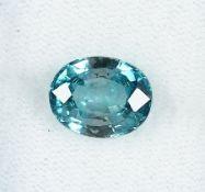 Loser Zirkon, ca. 4.3 ct, oval facett., blau Schätzpreis: 480, - EURLoose zircon, approx. 4.3 ct ,