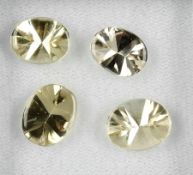 Lot 4 lose Goldberylle, zus. ca. 10.8 ct, ovale Goldberylle im Buff Top Cut Schätzpreis: 420, -