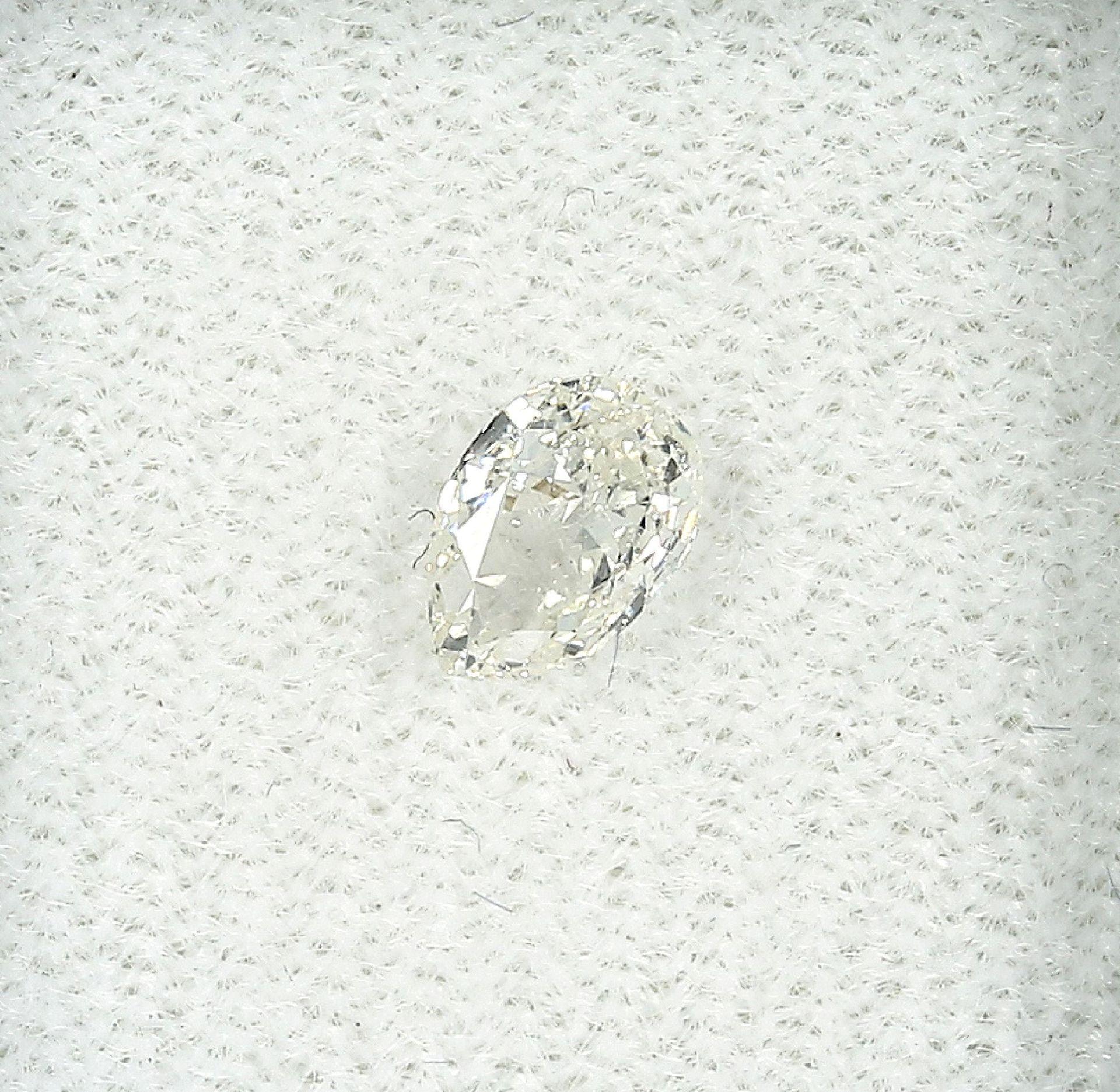 Loser Diamant, 0.51 ct l.get.Weiß+(I)/vvs2,tropfenf. facett., mit HRD-Expertise Schätzpreis: 1485, -