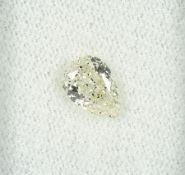 Loser Diamant, 1.02 ct get.Weiß (L)/p1, tropfenf. facett., mit HRD-Expertise Schätzpreis: 2565, -