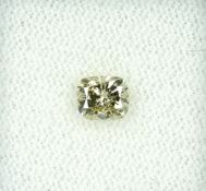 Loser Diamant, 0.55 ct Natural fancy Yellow/si2, Kissenschliff, mit GIA-Expertise Schätzpreis: 1823,