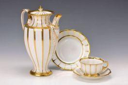 """Kaffeekanne, Fürstenberg, """"Athena"""", Kanne aus dem Klassizismus, 2. Hälfte 18. Jh., Goldstaffage,"""