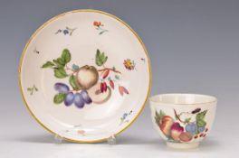 Tasse mit Untertasse, Frankenthal, um 1768, Porzellan, Karl-Theodor Marke unter der Glasur,