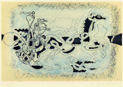 Georges Braque, 1882-1963, Ohne Titel, Farboffset, handsigniert und num. 13/75, ca. 22.5x34.3cm, PP,