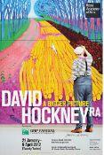 "David Hockney, geb. 1937, ""Winter Timber"", Royal Academy of Arts, London 2012, Farboffset,"
