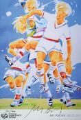 "Norbert Bisky, geb. 1970, ""The Perfect Match"", handsigniert, num. 496/800, 97 x 66 cm Die Offset"