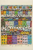 James Rizzi, 1950-2011, My House, 3D-Konstruktion, handsign., num. 175/175, dat. 87, ca. 17x14 cm,