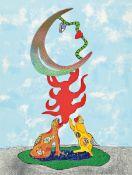 Niki de Saint Phalle, 1930-2002, Ohne Titel,Farblithographie mit Metallfoliendruck, handsigniert und