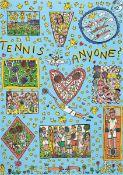 James Rizzi, 1950-2011 New York, Tennis anyone, Farboffset von 1994, ca. 83x59cm/91x66cm, unter Glas