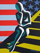 Mark Kostabi, geb. 1960, Upwardly mobile amerika, Acryl auf Lwd, signiert und dat. 1996,
