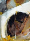 Kui, geb. 1946, abstrakte Farbkomposition, Acryl/Papier, sign., dat. 87, unter Glas gerahmt,