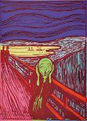 Andy Warhol, 1928-1987, Siebdruck auf Museumskarton, Titel: der Schrei, rückseitig num. 58/1.500,
