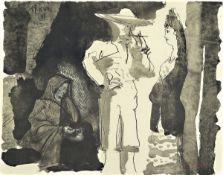 Pablo Picasso, 1881-1973, Picador et Femme, Lichtdruck von 1960 auf Velins von Arches nach einer