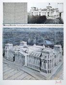 Christo, geb. 1935, Wrapped Reichstag, Farboffset, handsign., Blattgr. 100x70 cmChristo, born