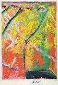 """Gerhard Richter,geb. 1932, Farboffset auf glattem Papier, handsigniert, """"Donaueschinger Musiktage"""