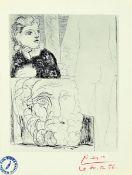 Pablo Picasso, 1881-1973, Farboffset, rechts unten mit rotem Farbstift signiert und dat. 30.12.56,
