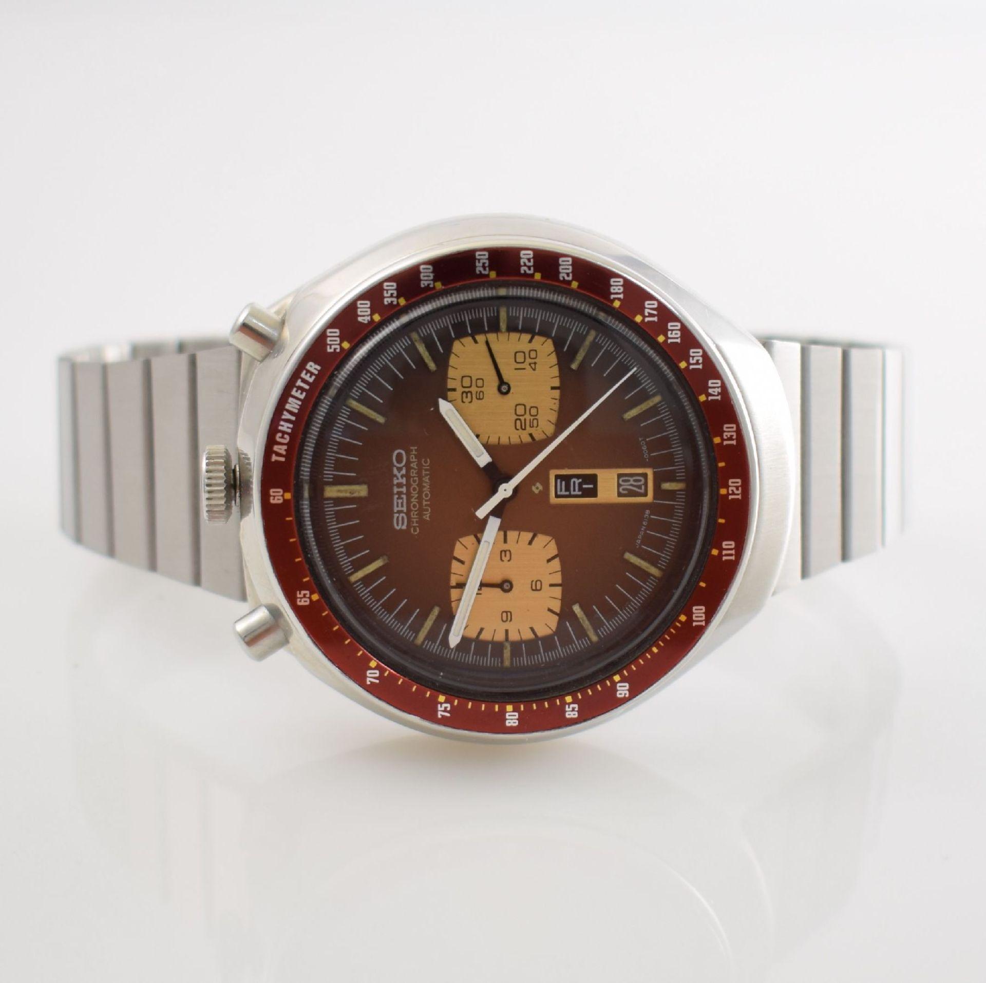 SEIKO sog. BULLHEAD Armbandchronograph, Japan um 1970, Automatik, Ref. 6138-0040, verschr.