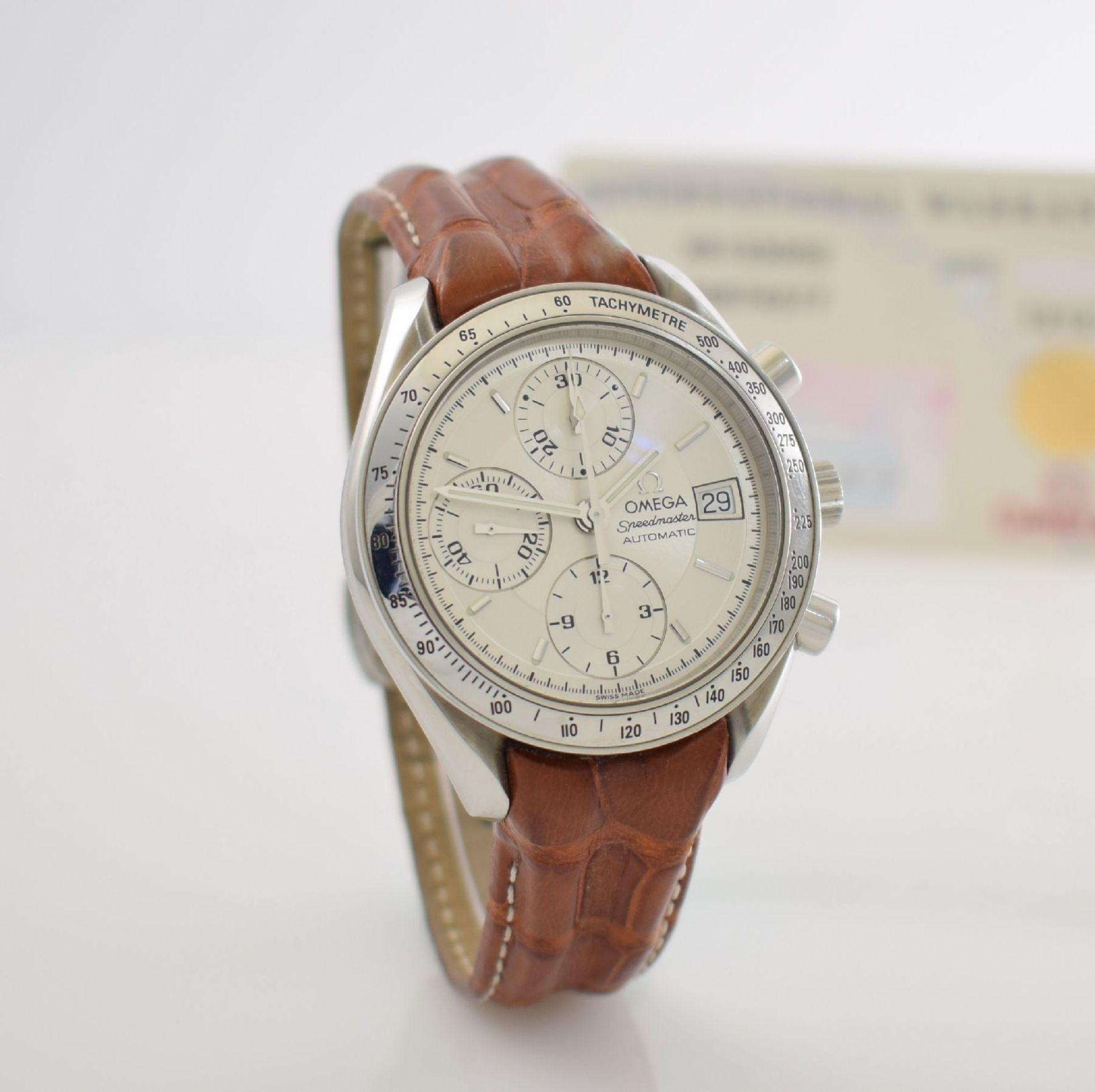 OMEGA Armbandchronograph Serie Speedmaster, Automatik, Schweiz um 1998, Ref. 1750083/3750083, - Bild 6 aus 8